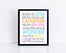 BOGO SALE, Playroom art, let them be little, children's art, teacher gift, teacher appreciation