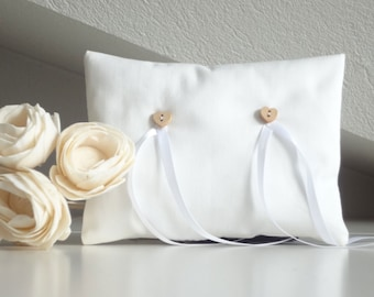 Wedding Pillow for Ring Bearer, wedding accessories, white bridal pillow, pillow ring
