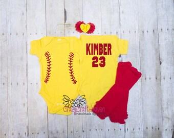 Softball Outfit, Baby Softball outfit, Softball bodysuit, Softball , Softball outfit, Softball sister, Softball baby