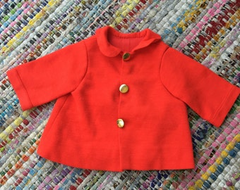 Vintage Baby Red Jacket with Gold Buttons 12 month