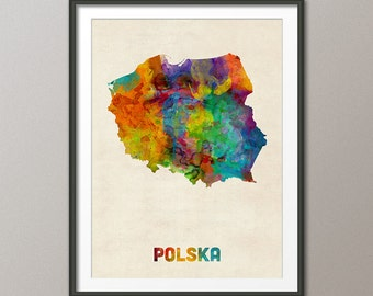 Poland Watercolor Map, Art Print (2331)