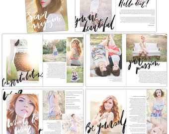 Senior Photography Digital Magazine - INSTANT DOWNLOAD - Days of Harvest - E1320
