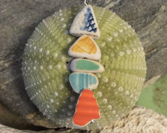 Sea glass jewelry- sea glass pottery fish
