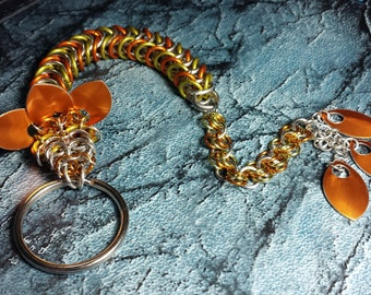 Orange and Yellow Dragon Keychain