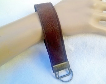 Brown Faux Swede ~ Key Wristlet ~ Key Fob ~ Fabric Key Chain ~ All Occasion Gift