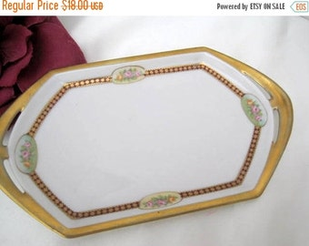 Porcelain Vanity Tray - Signed Austria Habsburg - Gilt Decorated