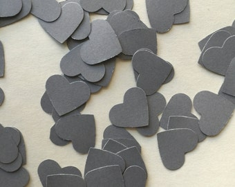 Gray Heart. Die Cut. Punch Out. Embellishment