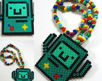 B-MO Kandi Necklace - Adventure Time - BMO - Rave - Music Festival