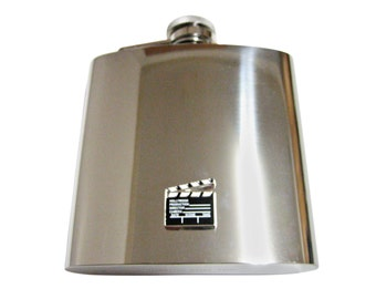 Film Clapper 6 oz. Stainless Steel Flask