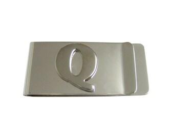 Monogram Letter Q Money Clip