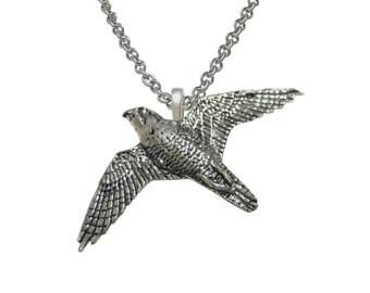 Peregrine Falcon Bird Pendant Necklace