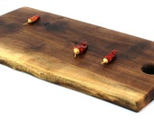 """Natural Edge Serving Board Handmade from Walnut - Ready to Ship - 18-3/4""""x9""""x1"""""""