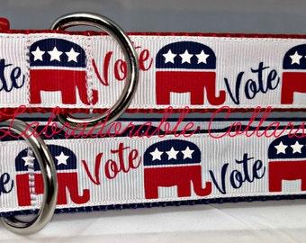 Republican Party Vote Dog Collars Republican Dog Collar