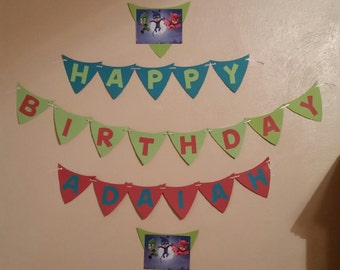 PJ Masks birthday party kit - banner personalized with childs name, cupcake toppers, and masks