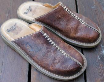 Original Doc Martens Leather Shoes Vintage Brown Sandals Rockabilly Vintage Mod Footwear Menswear Punk Rock Hipster Fashion Gifts for Him