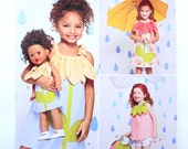New Simplicity 1172 Girl and Matching Doll Pattern, Size 3 to 8