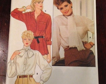 Butterick 6076 Sewing Pattern 70s Misses Blouse Size 18-12