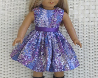 Multicolor Doll Dress for all 18 inch dolls, like the American Girl doll
