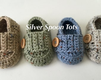 Baby Booties, Baby Loafers, crochet baby loafers,Crochet Baby Boy Shoes, Baby Booties, Babtism Shoes