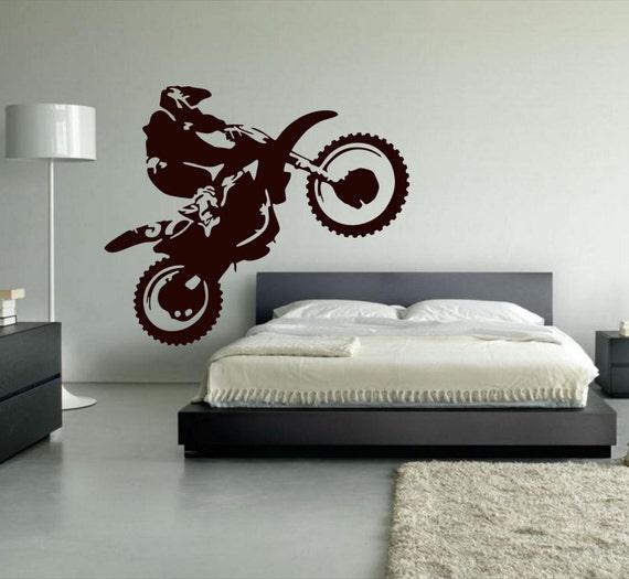 Charming Motocross Wall Decal Dirt Bike Decor Motocross Decor Dirt