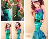MERMAID STAR- toddlers and girls mermaid dress, mermaid dress costume, mermaid party costume, mermaid outfit,  The Little Mermaid Birthday