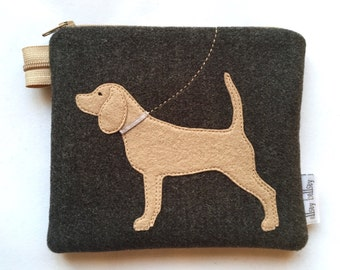Beagle coin purse pouch