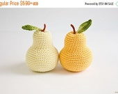 Crochet pear (1 pc) - fun kid toy, baby rattle, kitchen decoration, pincushion - eco-friendly toys by FrejaToys