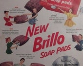 1950s BRILLO PADS Original Vintage Advertising Household Cleaning Products Ready To Frame Additional Ads Ship FREE