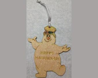 Happy Hanukkah Frosty the Snowman Ornament