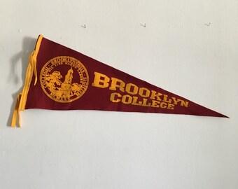 vintage college pennant. mid century vintage college pennant.