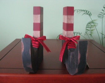 witch's shoes, shoes, halloween, shelf sitters, red, decoration, striped leggings