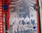 America The Beautiful ~~~~ Patriotic Card ~~~  Heirloom Quality