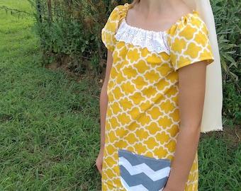 Boho Mustard Photo Shoot Dress | Mustard and Cream Flower Girl Dress | Family Photo Shoot | Sister Dresses | Ellie Ann and Lucy