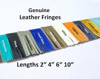Genuine leather fringes - fringes for tassels - genuine Suede for leather tassels - purse embellishment fringes -