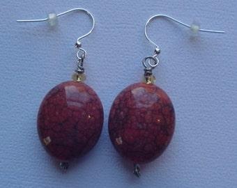 Wire Wrapped Pierced Earrings
