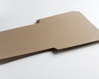 Blank Kraft DIY CD Sleeve | CD Favor | Kraft Sleeve - Sets of 10, 25, 50 or 100