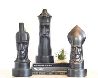 Modern Gothic Peter Ganine Brayton Laguna Pottery Chess Piece Knight