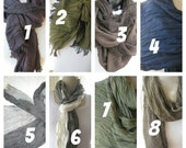 Men's long scarf,dark burgundy black green gray ivory navy blue stripe,Scarves 2015 fashioN,women,MAN SCARVES ,crinkle viscose fabric scarf