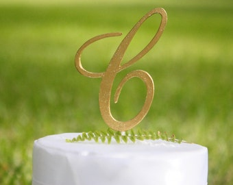 Monogram Letter C Elegant Font |Initial Cake Topper | 5"