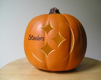 Small Steelers Carved Pumpkin