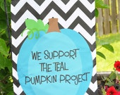Teal Pumpkin Project - Custom Yard Flag Teal Pumpkin Project