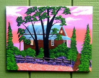 Twilight Woods Painting