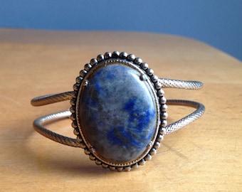 Sodalite and Silver Bracelet
