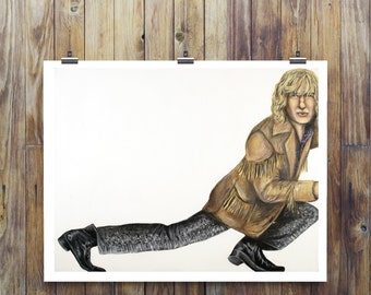Paper Print of Hansel from Zoolander played by Owen Wilson