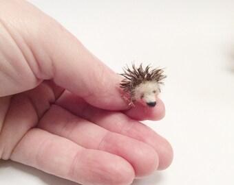 Needle felted miniature hedgehog-dollhouse miniature-miniature animal - Felted animal -Felted  porcupine - needle felted miniature-Hedgie