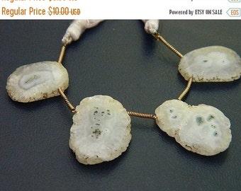 20%off. 20 Percentoff. Natural solar quartz Stalactite Slice, Druzy Slice,Pendant Bead  Size 15mm-20mm. long-Sale