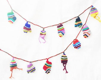 Crochets Wall Hanging, Multicolored Wall Hanging, Crochet Bunting