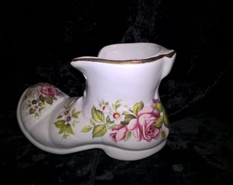 Old  Foley Shoe, Harmony Rose, Bone China, Free Shipping