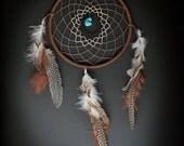 Large Tri-colored Dream Catcher, Boho Home Decor, Boho Dreamcatcher, Boho Nursery, Tribal Nursery, Large dreamcatcher for nursery or home!