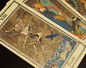 Vintage The Medieval Scapini Tarot Card Deck Made in Switzerland 1985 Full Deck 78 Cards Major and Minor Arcana. Full Scenes